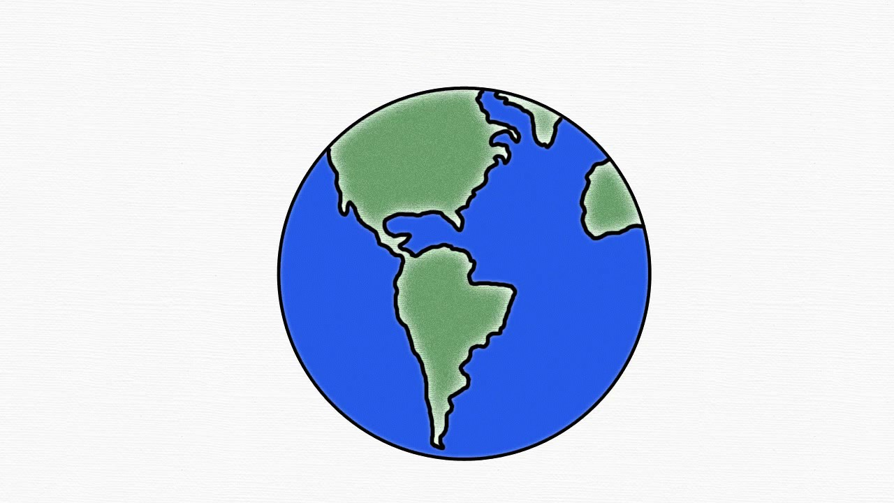 1280x720 How To Draw Earth Save Earth Earth Day Easy Draw