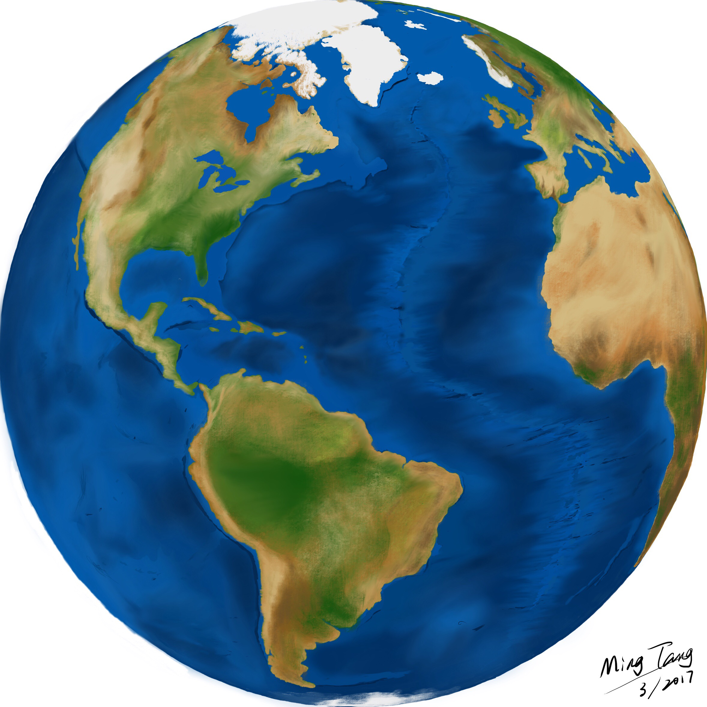 Earth drawing at free for personal use for Easy to draw earth