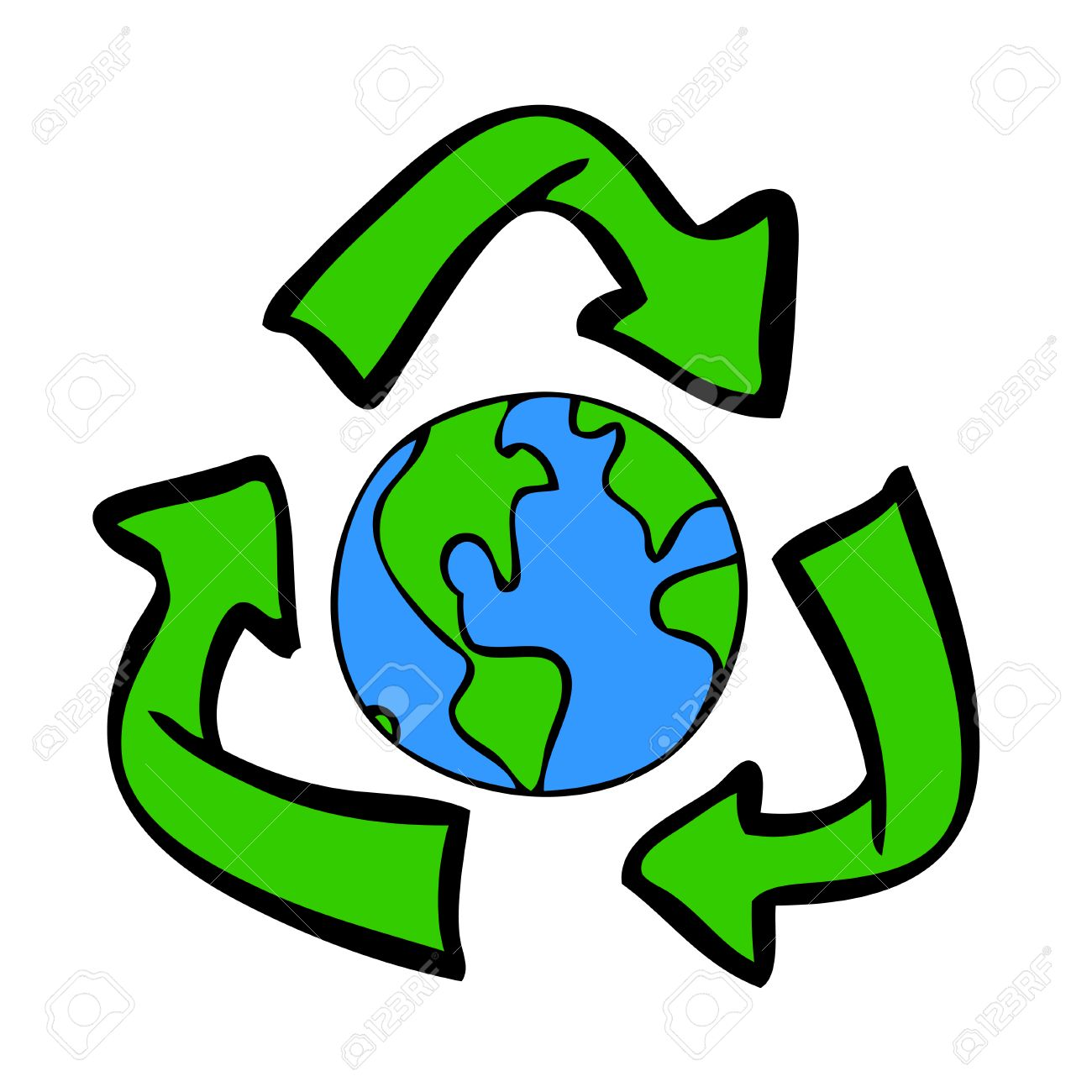 1300x1300 Recycle Earth Drawing Stock Photo, Picture And Royalty Free Image