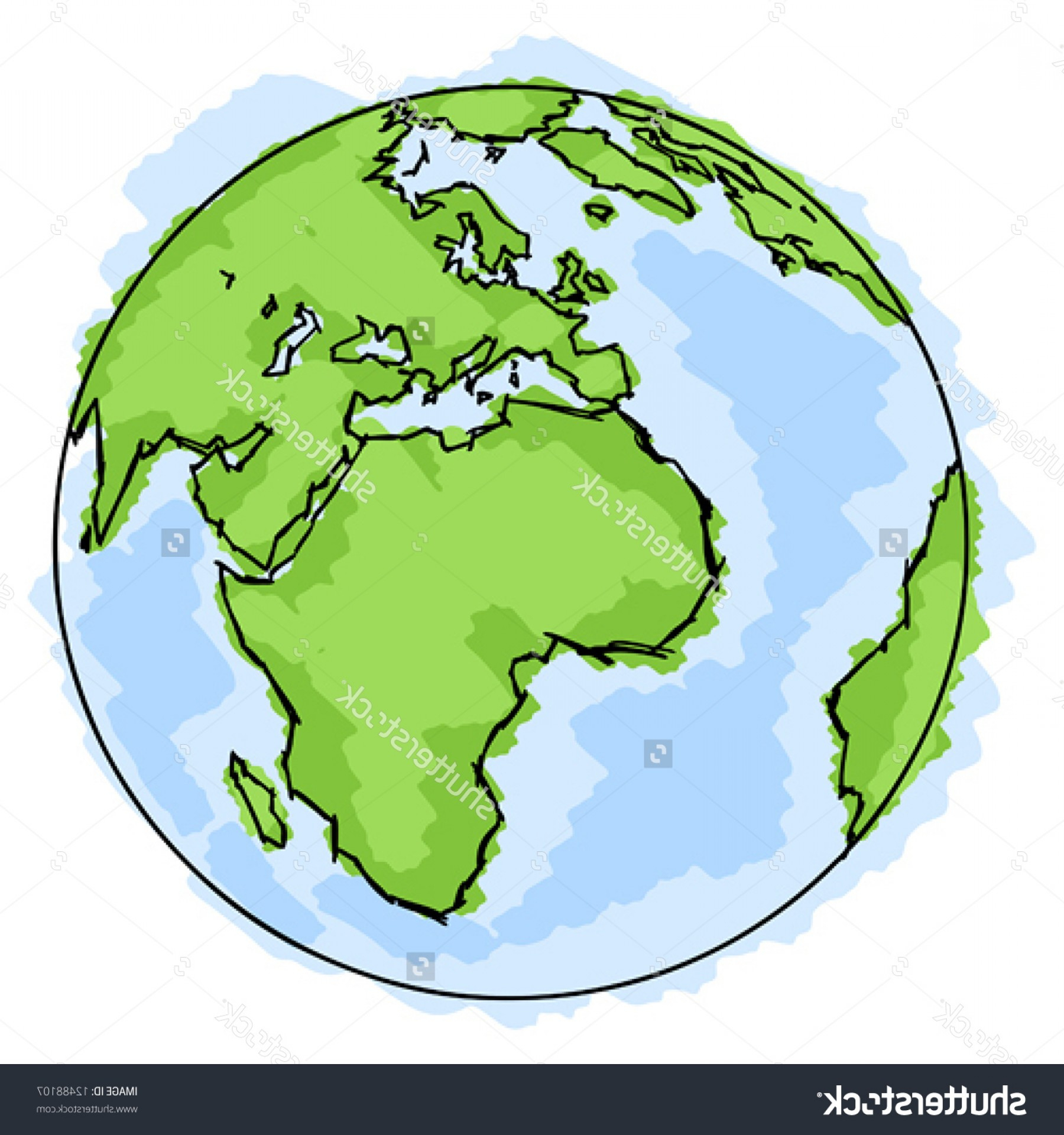 1800x1920 Simple Drawing Of Earth Exclusive Stock Vector Globe Simple