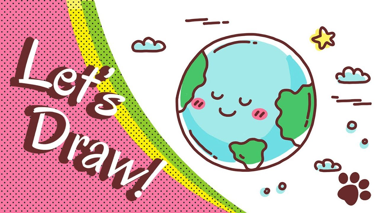 1280x720 How To Draw The Earth Step By Step Cute And Easy Easy Drawing