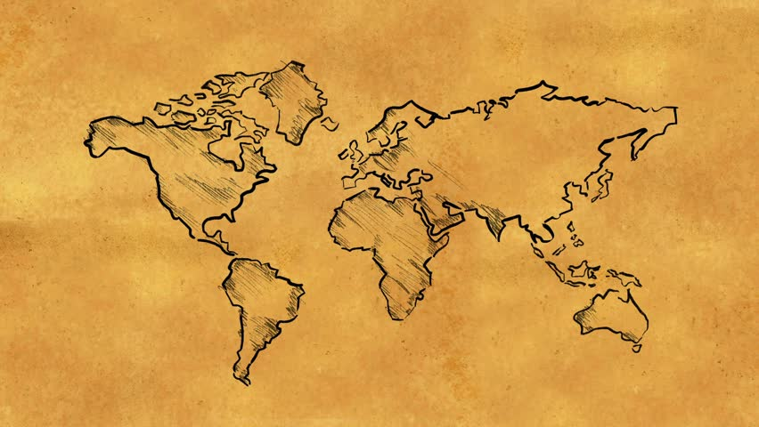 Earth map drawing at getdrawings free for personal use earth 852x480 world map stock footage video shutterstock gumiabroncs Image collections