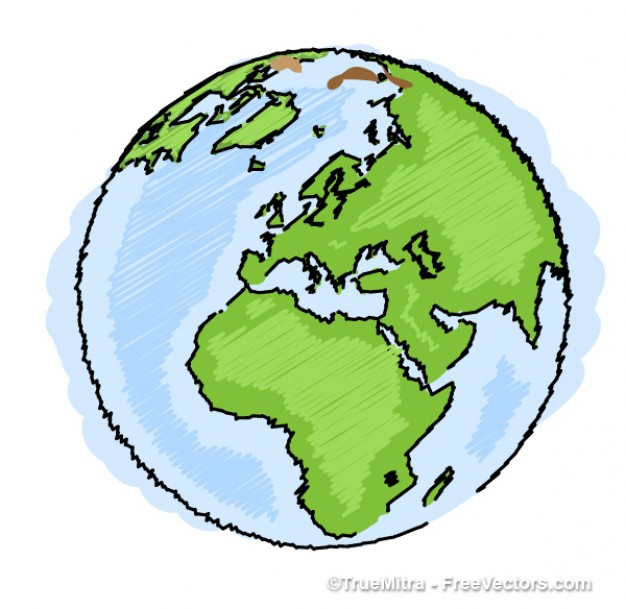 626x609 Earth Drawing Blue Green Ilustration Vector Freebies Graphics