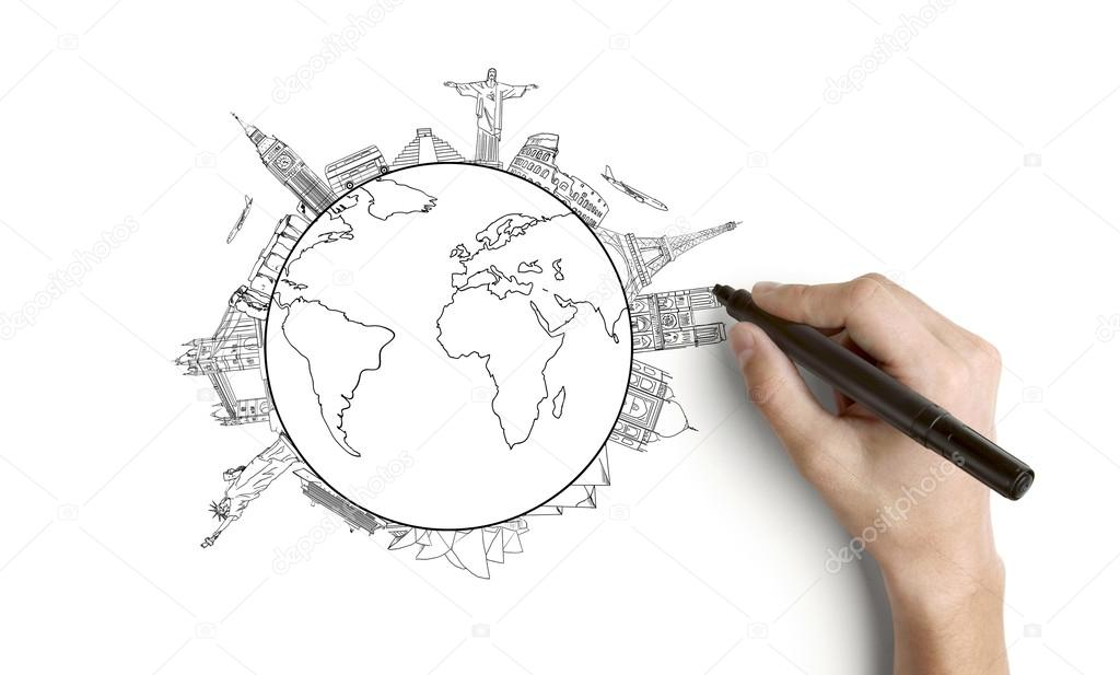 Earth Sketch Drawing at GetDrawings.com | Free for personal use ...