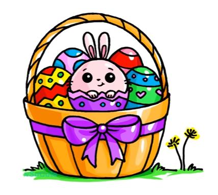 427x382 Easter Basket Artdrawings Easter Baskets, Easter