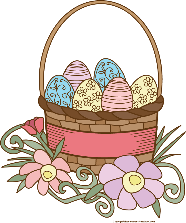 647x779 Free Easter Basket Clipart