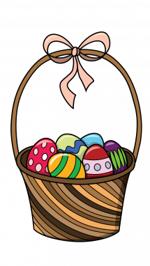 215x382 How To Draw Basket Of Easter Eggs, Easter, Holidays, Easy Step By