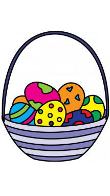 215x382 How To Draw Easter Egg Basket, Easy Step By Step Drawing Tutorial