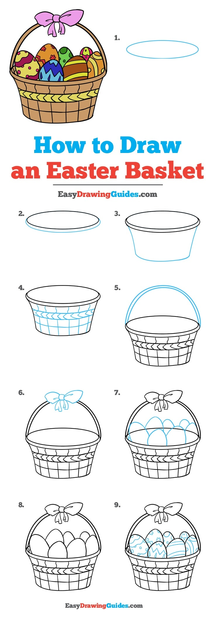 736x2109 How To Draw An Easter Basket