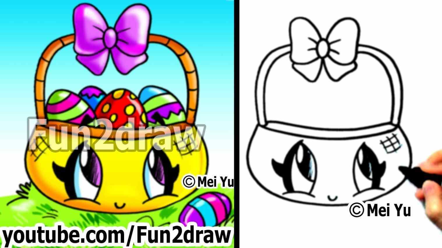 1517x853 Innovative Easter Basket Drawing Ideas Coloring Pages Easy Things