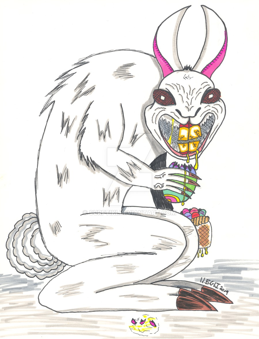 900x1176 Evil Easter Bunny Drawings Happy Easter 2018
