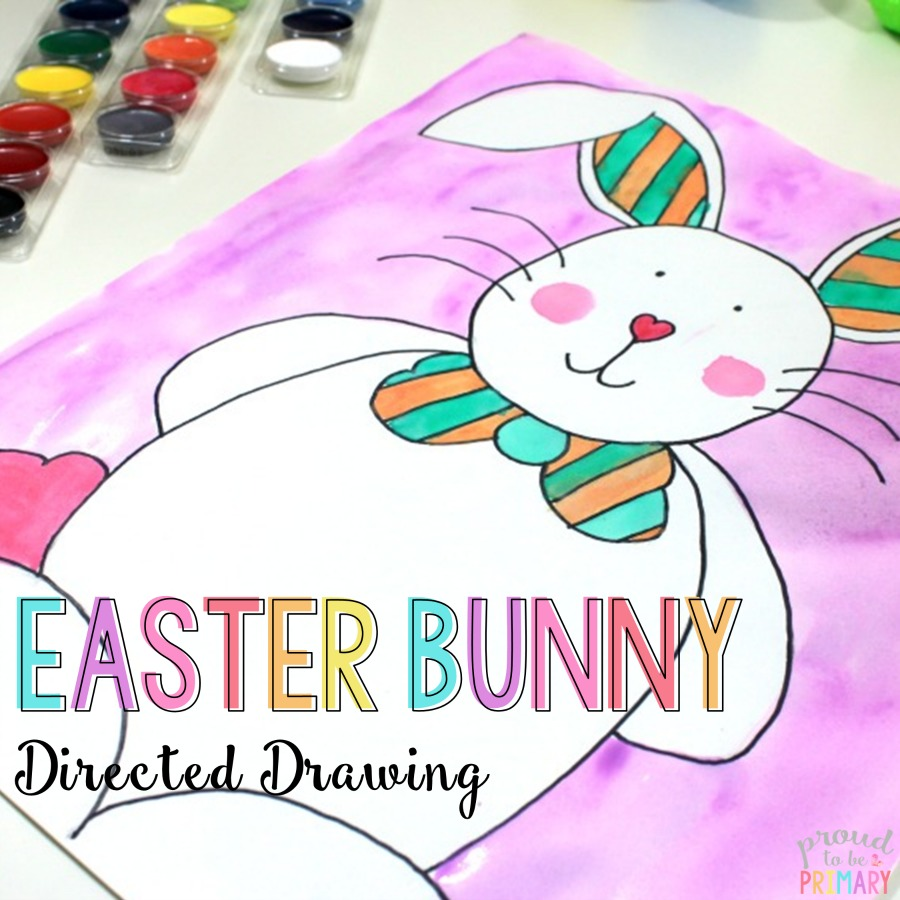 900x900 Easter Bunny Directed Drawing