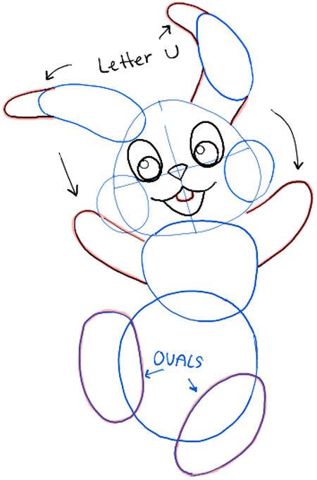 450x680 How To Draw The Easter Bunny Step By Step Drawing Tutorial