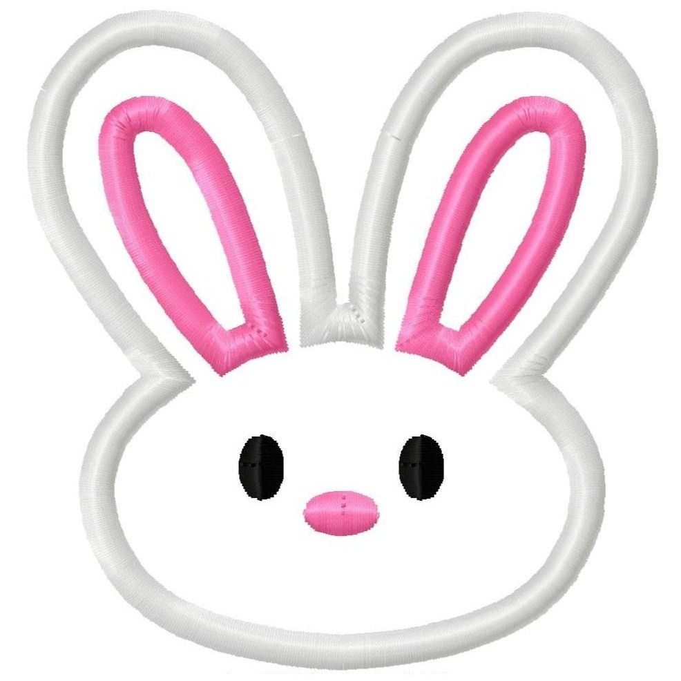 986x986 Digi Dolls Easter Bunny Face Head 2 Applique Machine Embroidery