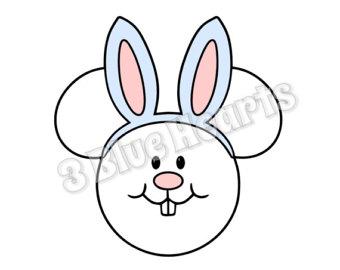 340x270 Easter Bunny Head Etsy