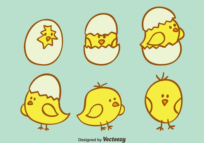 700x490 Hand Drawn Cute Easter Chick Vector