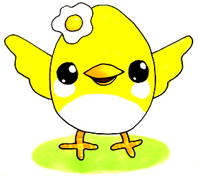 288x258 How To Draw A Cute Chick Kawaii Shoo Rayner Author