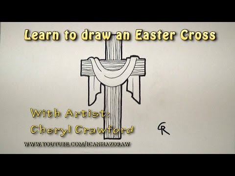 480x360 How To Draw A Cross With Angel Wings