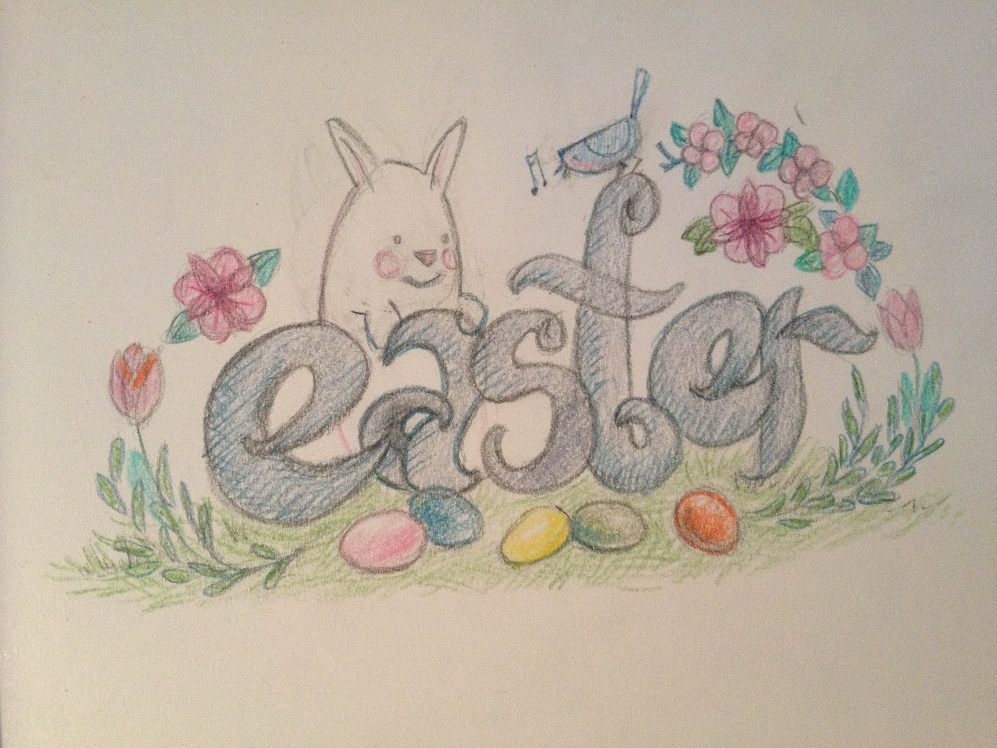 3264x2448 312 Drawing Easter Draw Each Day