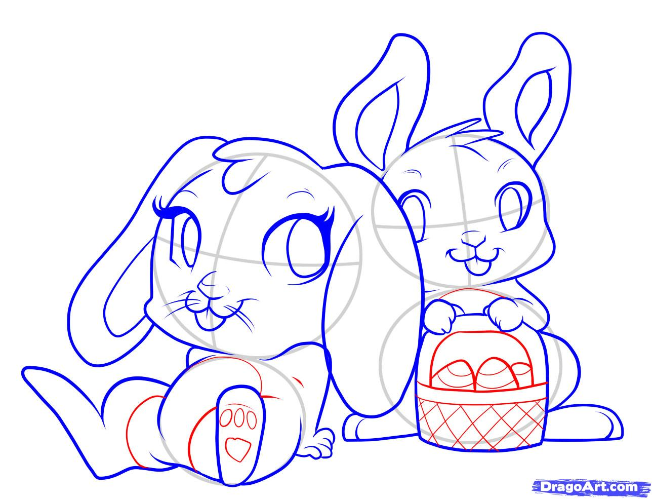 1288x985 Easy Easter Bunny Drawing New Awesome Coloring Page