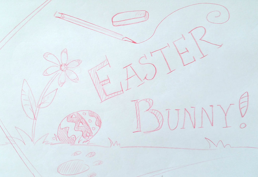 1024x705 How To Draw A Cute Easter Bunny!