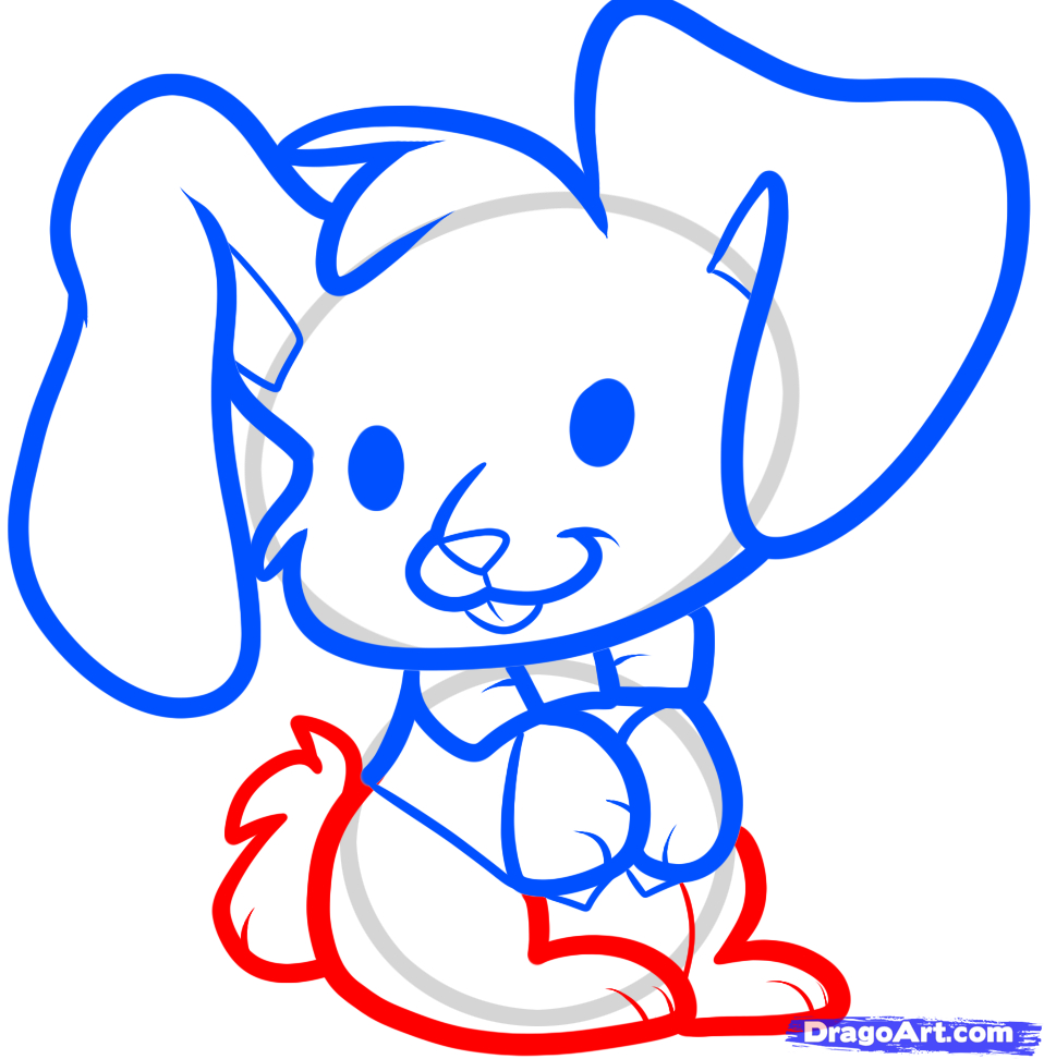 958x972 Simple Easter Bunny Drawing How To Draw An Easter Bunny For Kids