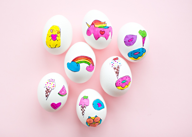 615x438 Cute Easter Egg Sticker Art With Free Printablbe Coloring Page