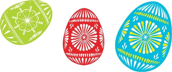 600x252 Colour Easter Eggs Clip Art Free Vector In Open Office Drawing Svg