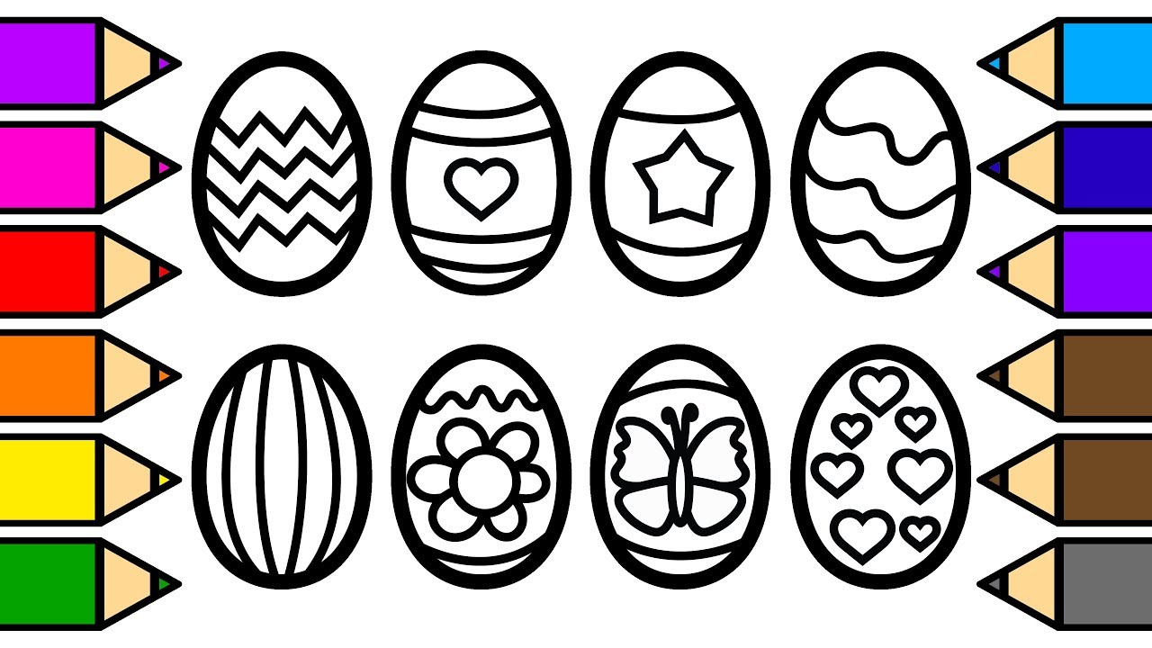 1280x720 Colouring Easter Eggs Colouring With Glitter, Drawing