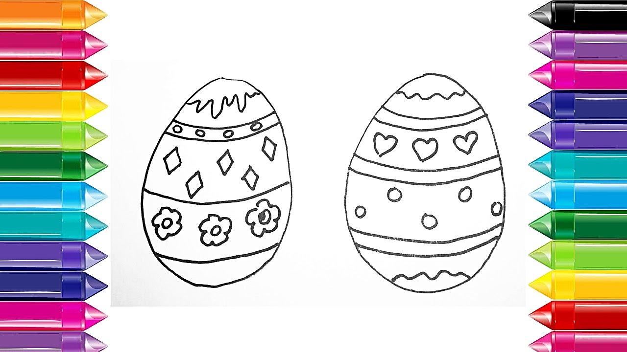 1280x720 Draw Color Easter Egg Ideas For Easter Drawings Easter Egg Designs