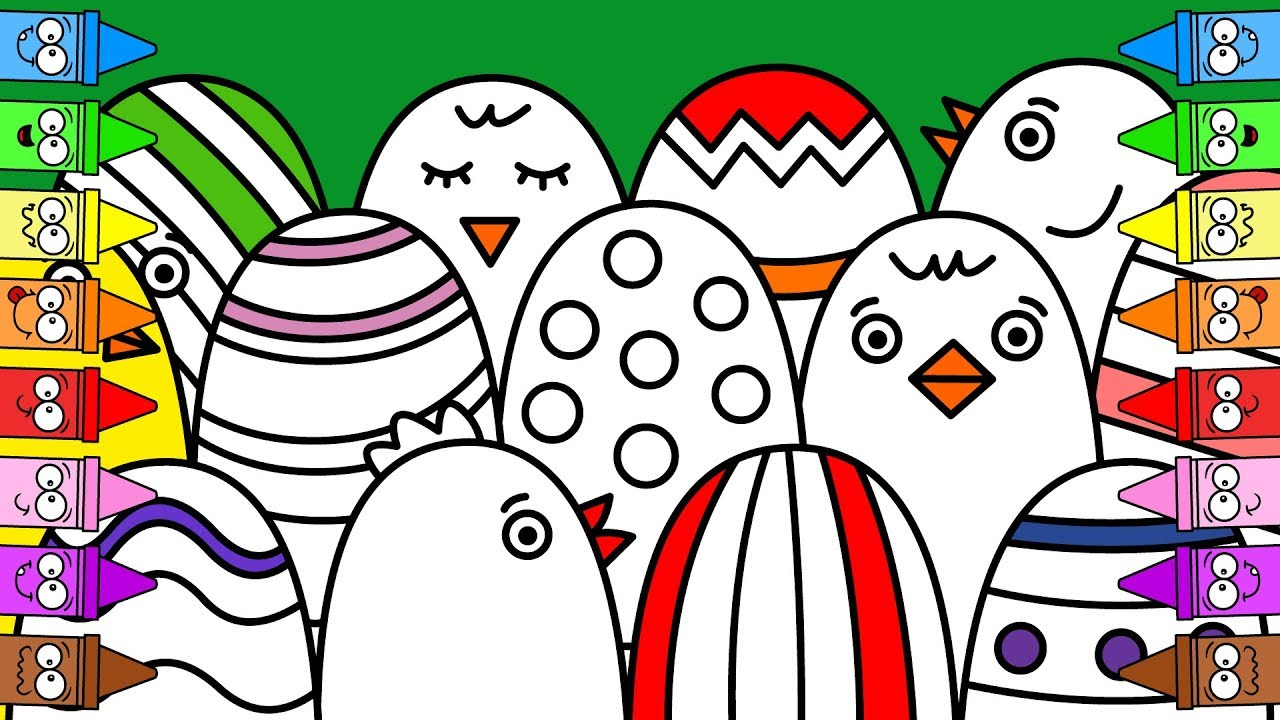1280x720 Drawing Easter Eggs Chicken Drawing Easter Coloring Pages