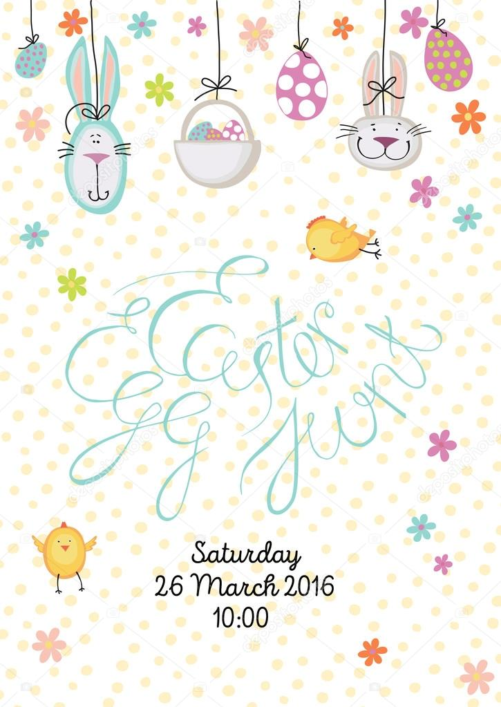 725x1023 Easter Egg Hunt Stock Vector Olga Bonitas