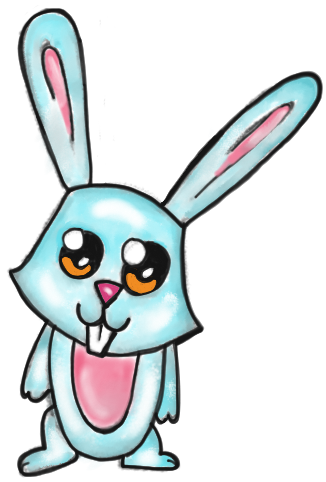 326x482 How To Draw A Cartoon Bunny Rabbit With Easy Step By Step Drawing
