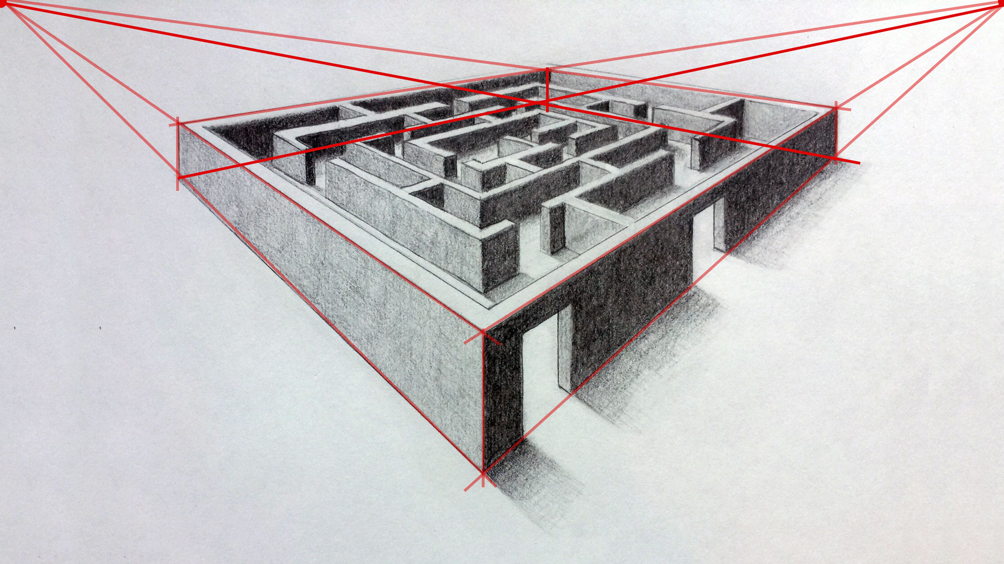 Easy D Line Drawings : Easy 2 point perspective drawing at getdrawings.com free for