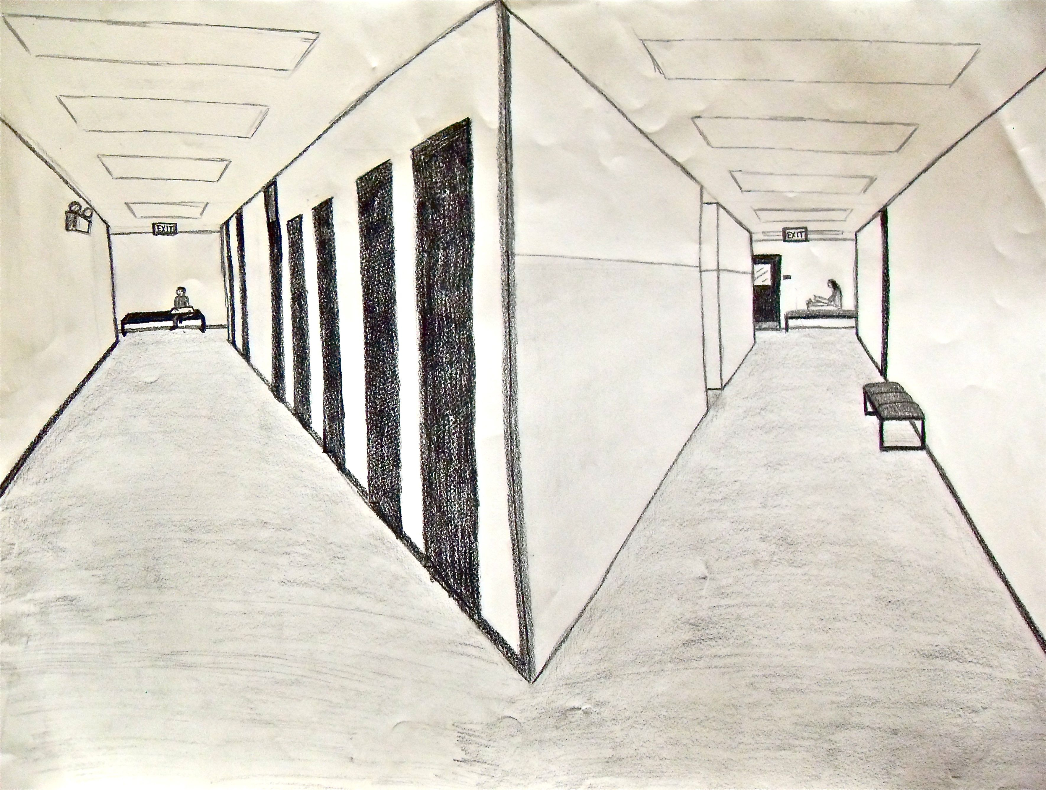 easy 2 point perspective drawing at getdrawings com free for