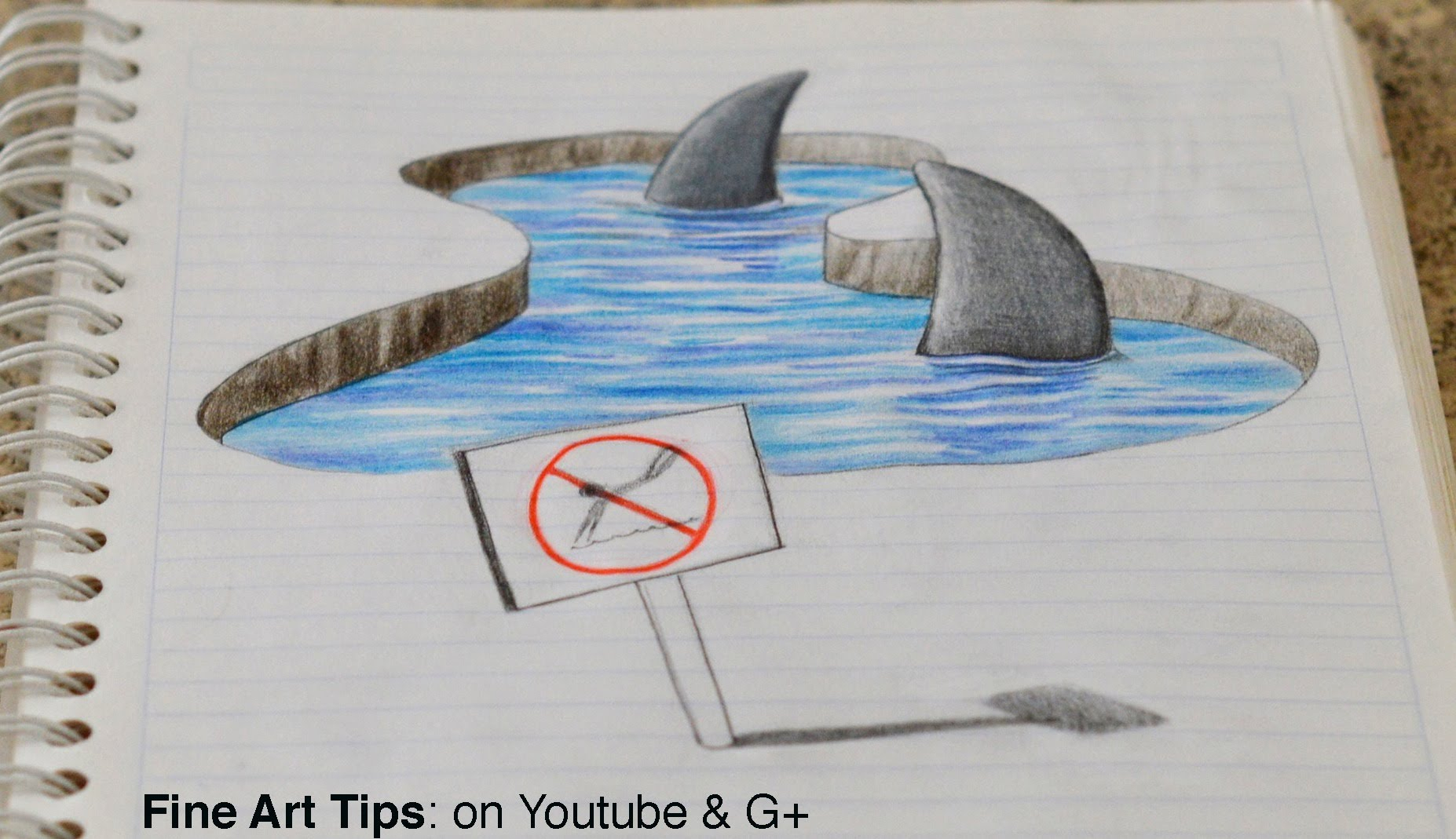 1854x1069 3d Drawings Easy Drawing 3d Sharks On My Notebook!