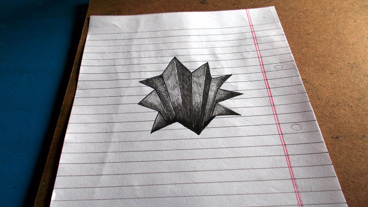 1280x720 Easy 3d Sketches Photos Easy Unique 3d Drawings,