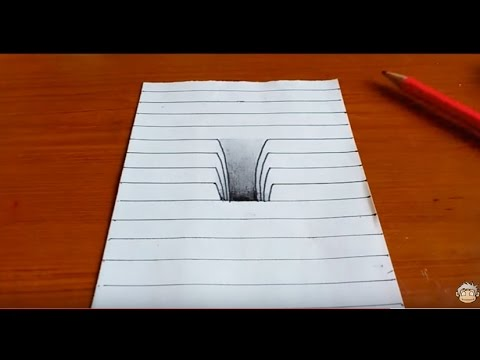 480x360 Very Easy!! How To Drawing 3d Hole
