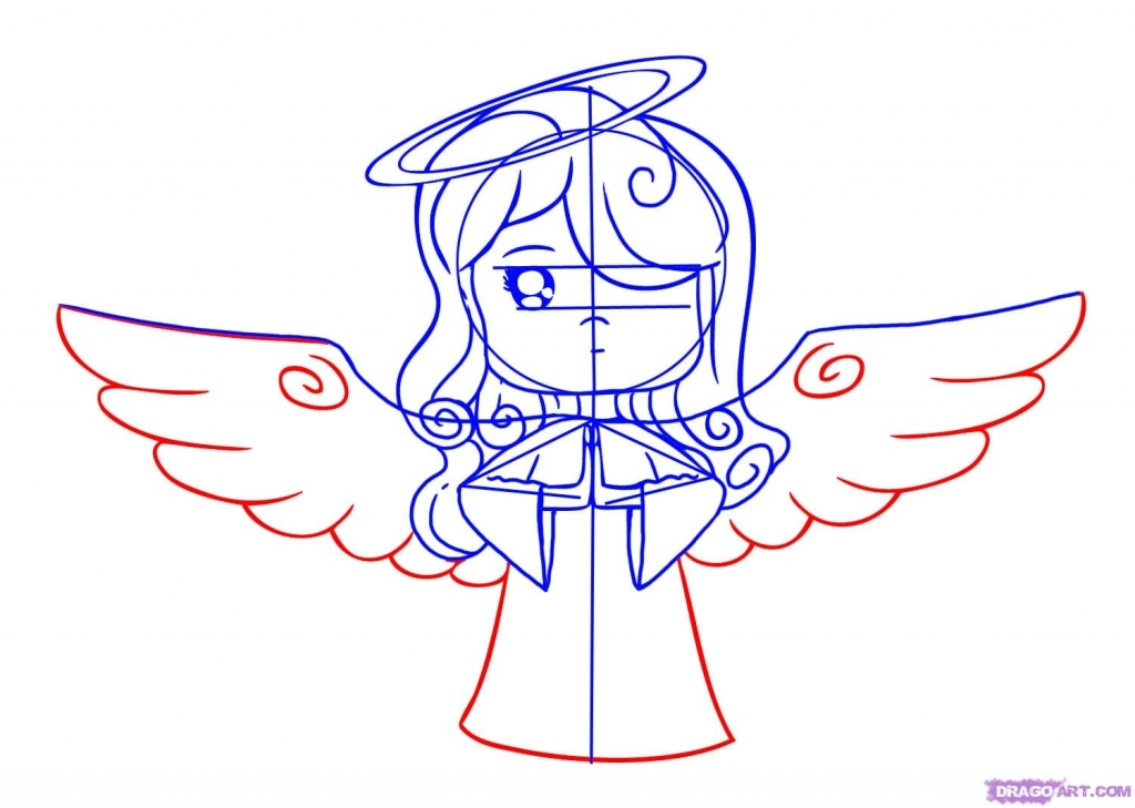 Easy Angel Wings Drawing At Getdrawings Com Free For Personal Use