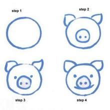 220x220 How To Draw A Pig Other Easy Animals Share Today's Craft