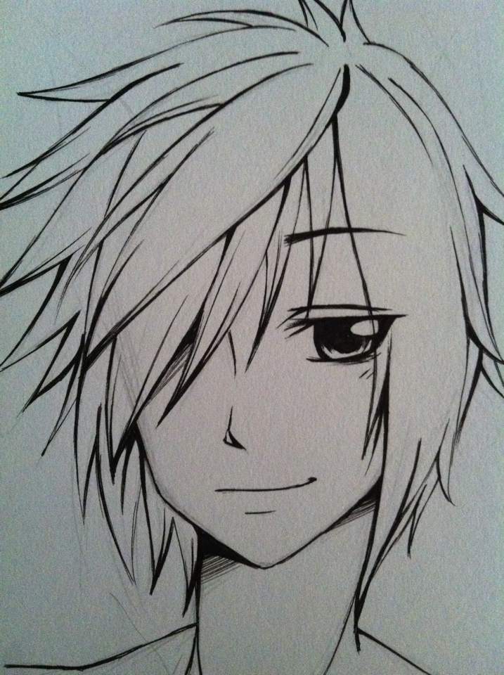 717x960 pictures easy anime boy drawing