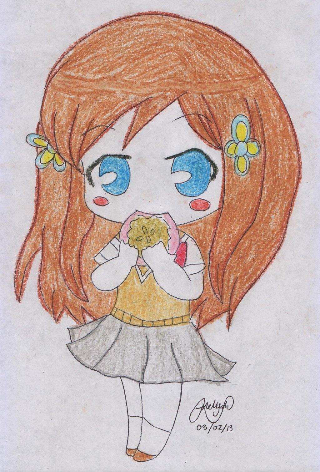 1024x1509 Chibi Anime Draw Colored By Nelijahnuada