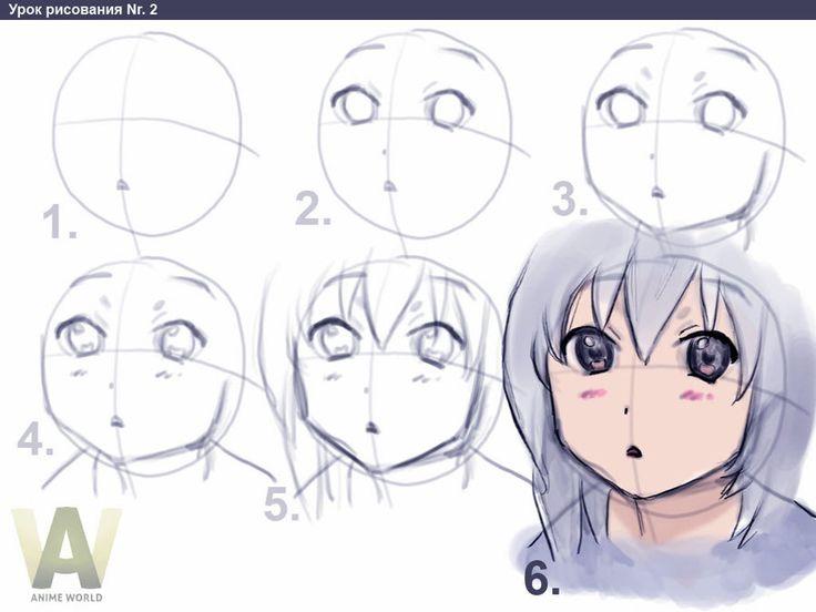 736x552 Basic Anime Drawing Steps