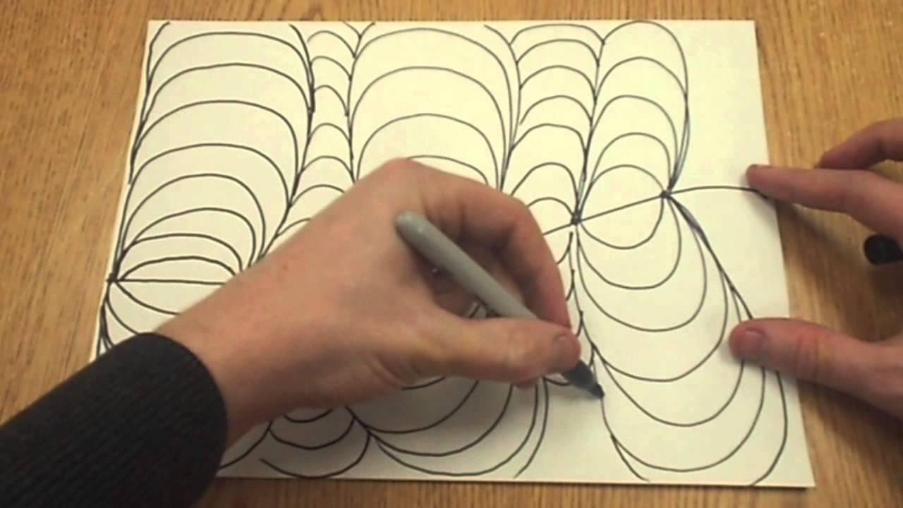 1280x720 Easy Op Art Drawing
