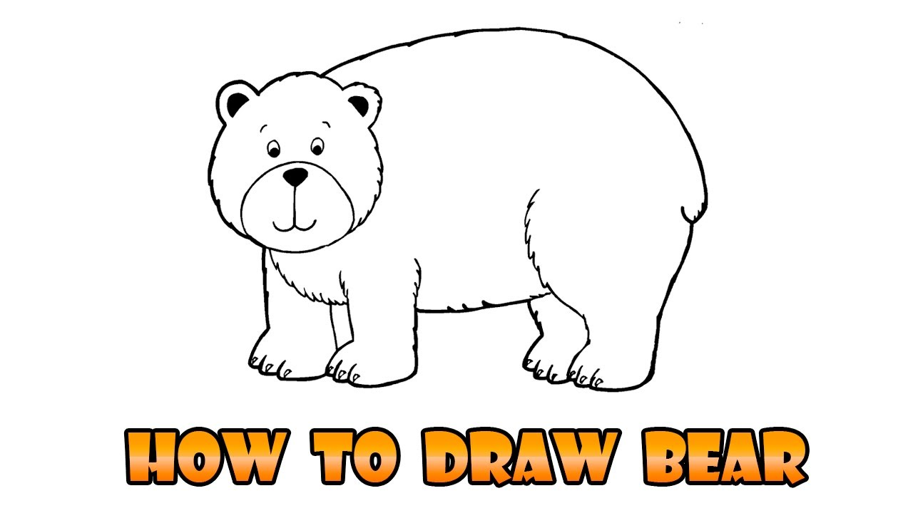 1280x720 How To Draw Bear