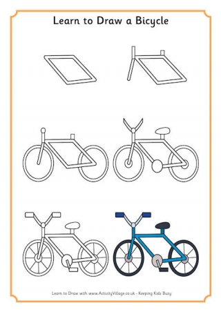 Easy Bicycle Drawing At Getdrawings Com Free For Personal Use Easy