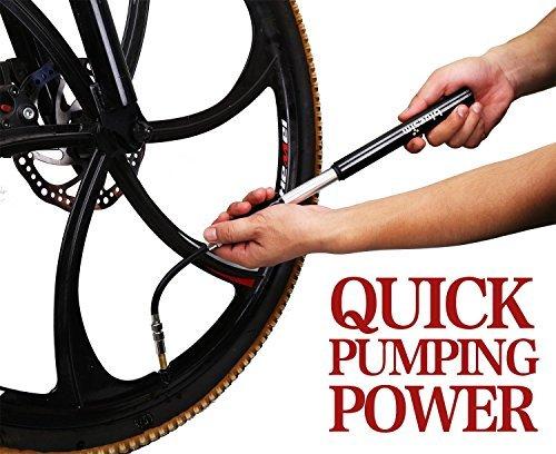 500x408 Mini Bike Pump, Bluesim 2 In 1 Valve Max260 Psi Bicycle Pump Fits