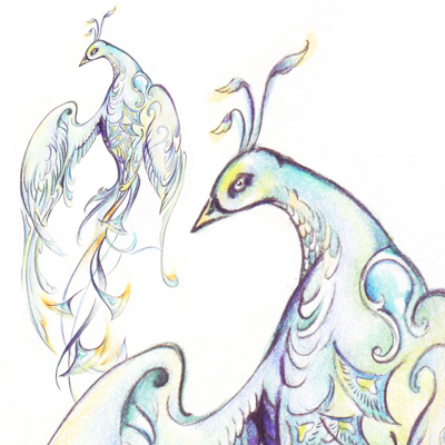 400x400 How To Draw An Elegant Fantasy Bird With Colored Pencils