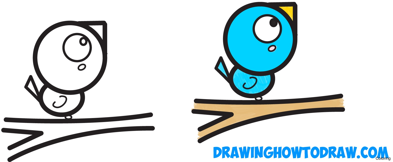 1676x693 Simple Birds Drawings For Kids Easy To Draw Love Designs How