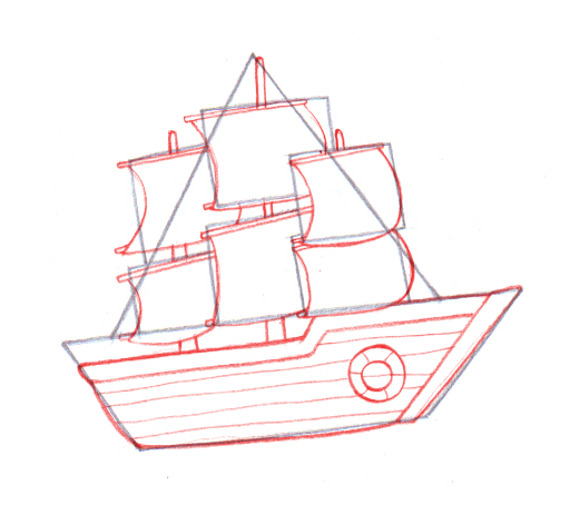 512x454 Draw A Boat Step 5how To Draw A Boat Easy